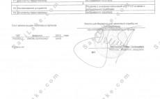 Лист записи ЕГРЮЛ изменения
