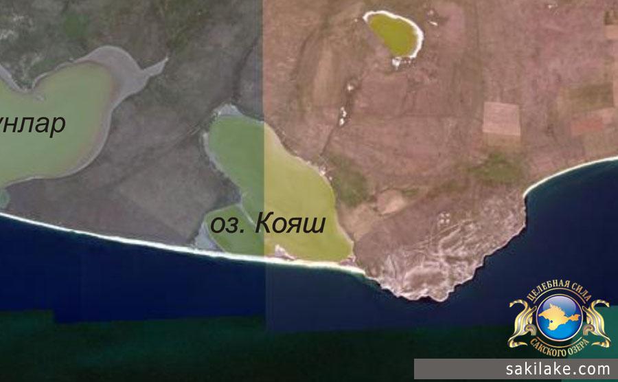 Озеро Кояш на карте