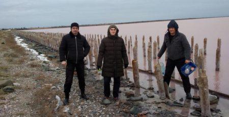 Полевые исследования на Сакском озере