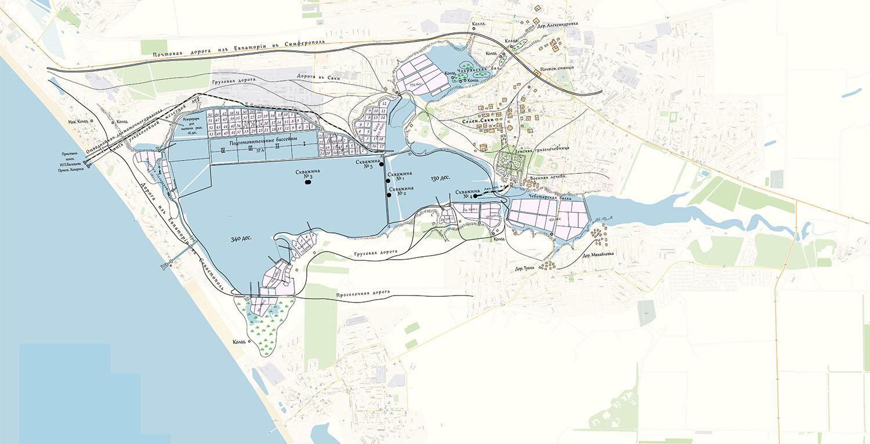 Карта сакских озёр