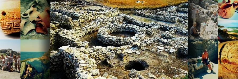 Археологический раскоп городища Полянка 1в. до н.э.